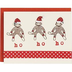 Sock Monkey Santas