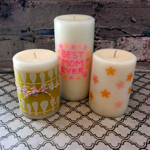 Mother S Day Is A Great Time To Give Personalized And Thoughtful Gift We Love This Candle Customization It Easy Do For Kids