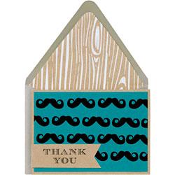 DIY Mustache Thank You Card