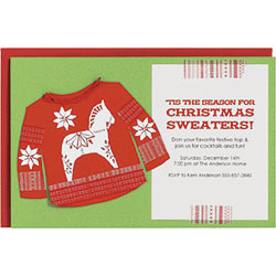 Christmas Sweater Party Invite