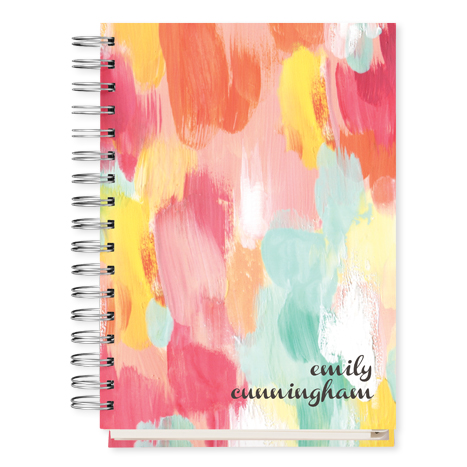 multi colored personalized datebook