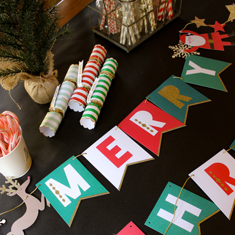 assembled Paper Source holiday garland