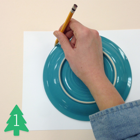 Use a plate to trace a perfect circle