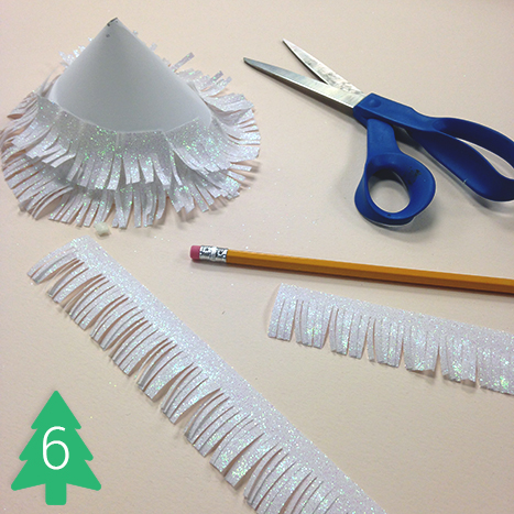 Wrap the fringes around a pencil