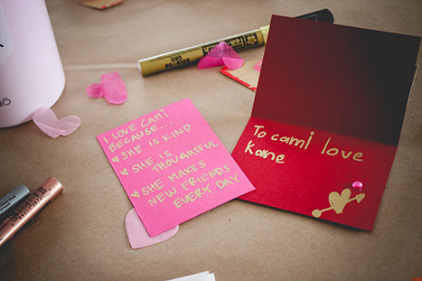 hand written valentine's day cards