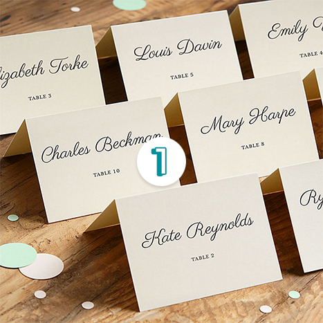 Soft White Printable Place Cards
