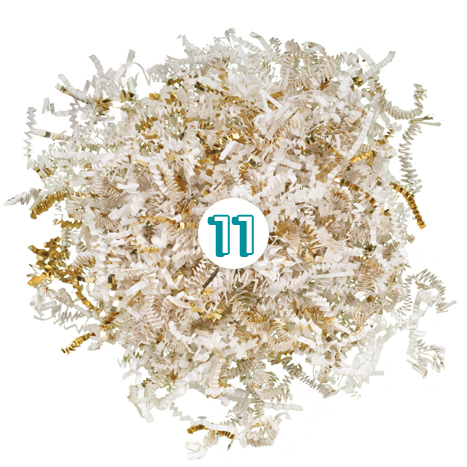 White Gold Shredded Paper