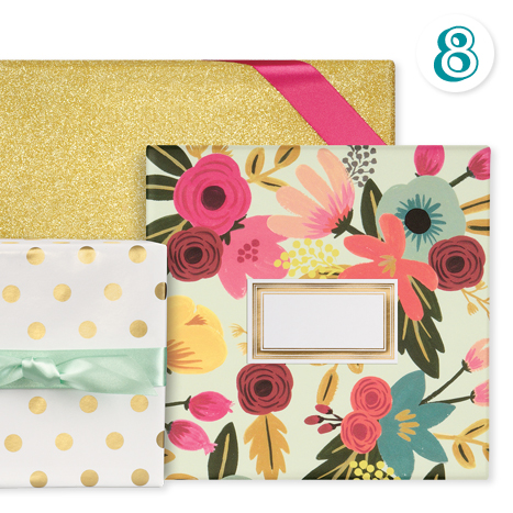 Mint Floral Wrapping Paper
