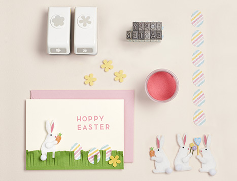 Hoppy Bunny Easter Card