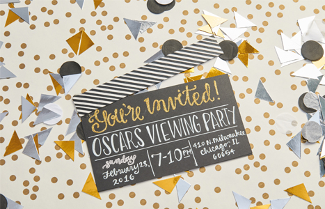 DIY Oscar Party Invitation