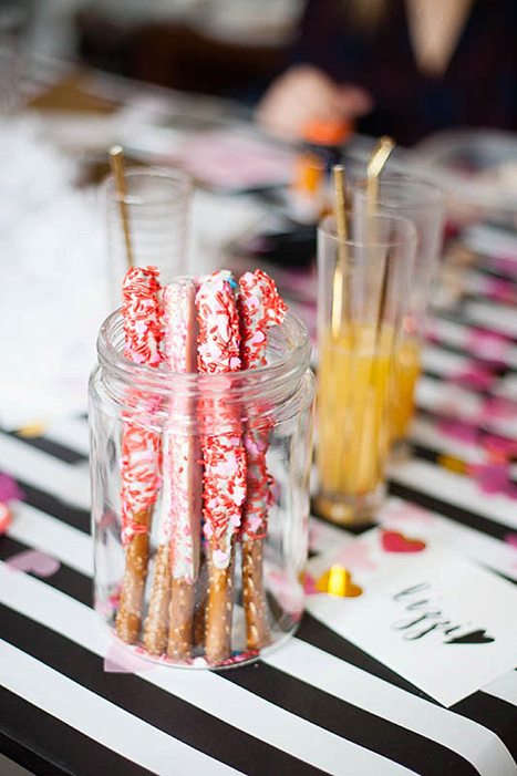 red and white candy covered pretzels