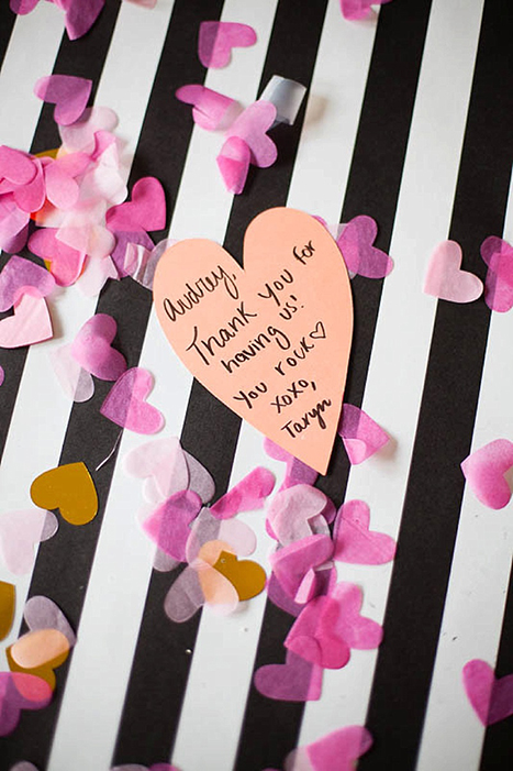 a Valentine's Day thank you note