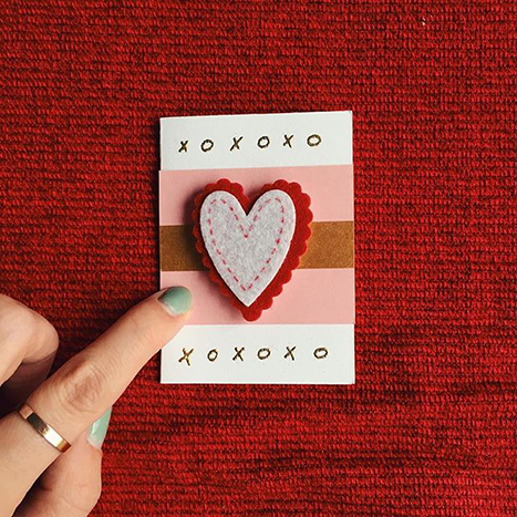 mini hand made valentine's day card