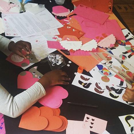 crafting valentines