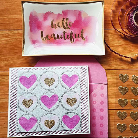 stamped and embossed valentines