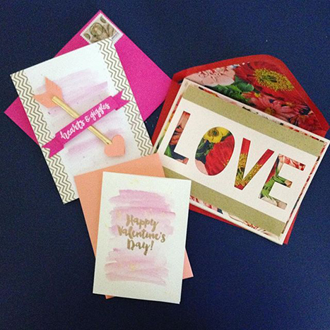 paper source valentines and envelopes
