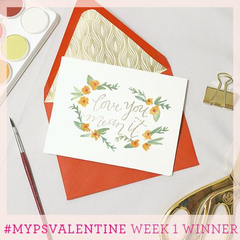 Week one winner of the MyPSValentine Contest