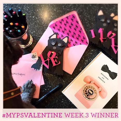 Week three winner of the MyPSValentine Contest