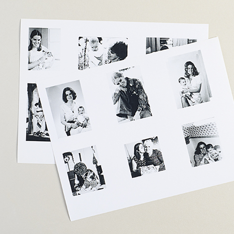 printed black and white photos