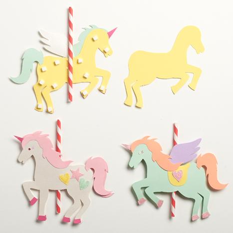 straws taped to unicorn kit