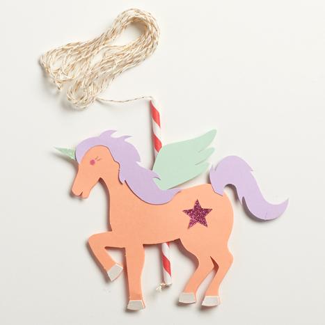 string strung through straw on unicorn kit
