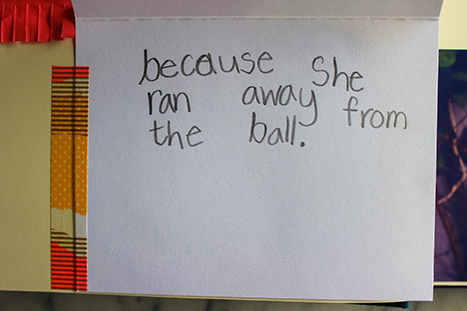 handwritten note from a child