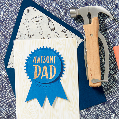 Dad Card and Hammer