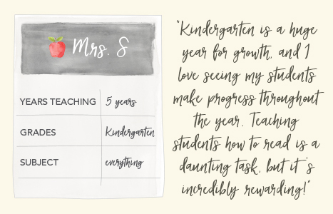 kindergarten teacher's report card