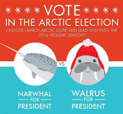Vote in the Arctic Election Campaign Poster