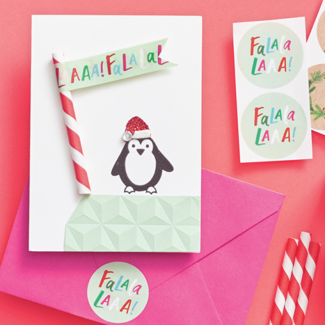 Holiday Penguin DIY North Pole Card