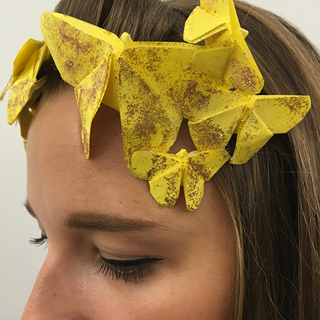 yellow butterfly origami snapchat headband