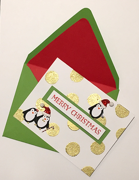 Holiday Card Contest, Paper Source, Penguin Holiday Card