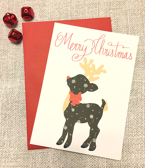 Holiday Card Contest, Rudolph Reindeer Card, DIY Card