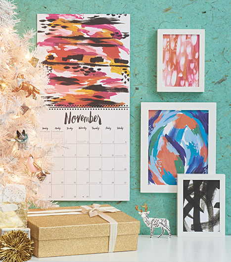 Colorful Calendars Used as Framed Artwork