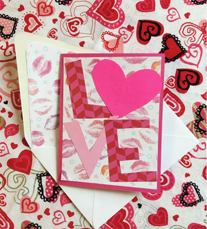 paper letters spelling love