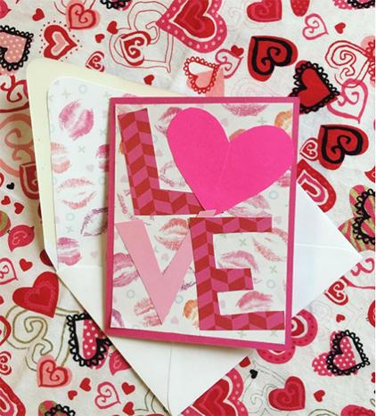 paper letters spelling love