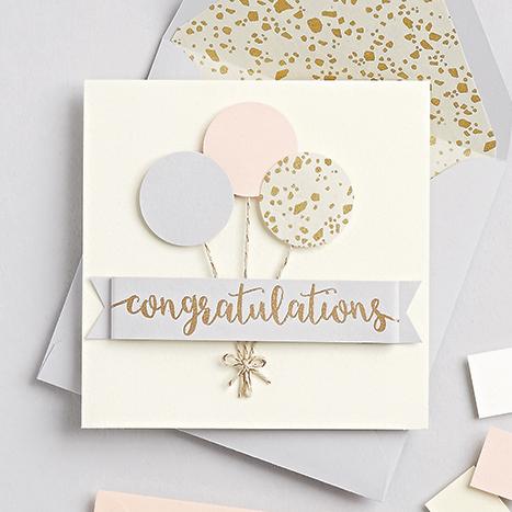 balloon congratulations card