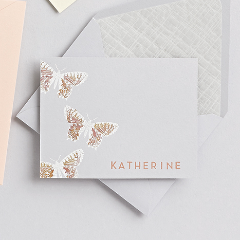 luxe grey butterfly card