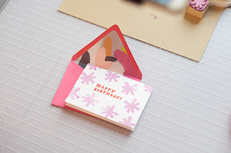 colorful patterns card