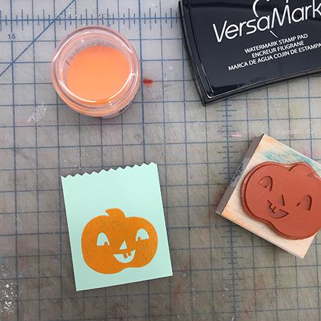 pumpkin stamp