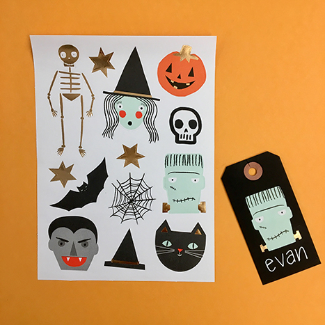 halloween party tag