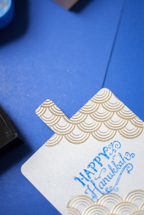 hanukkah heat embossing