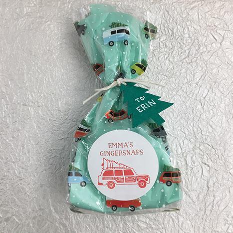 snowy cars treat bag