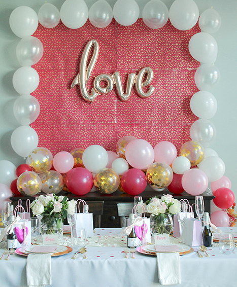Valentine's Day Balloon Photobooth Background
