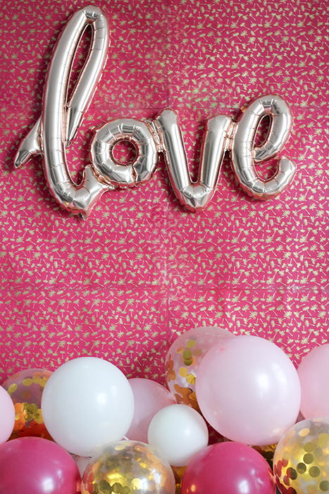 Love Balloon on Pink Paper