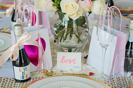 Valentine's Day Brunch place settings
