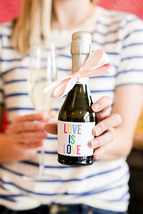 Love is Love Mini Champagne