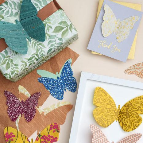 DIY Butterflies made of Fine Paper