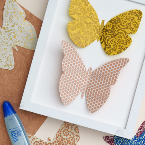 DIY Framed Paper Butterflies