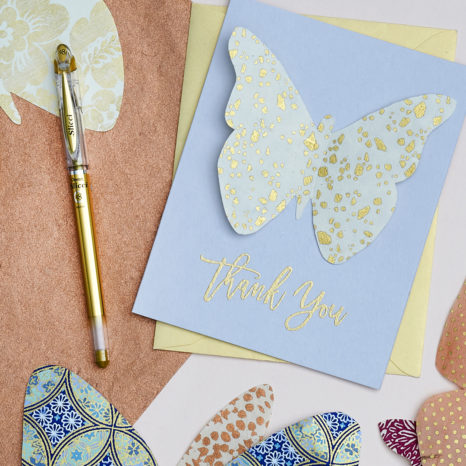 DIY Butterfly on a card